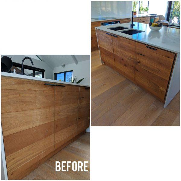 timber floor cabinet repair