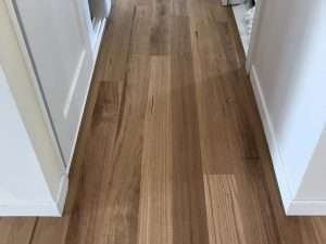 Engineered timber hallway